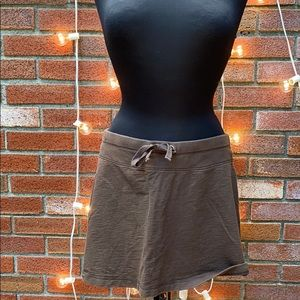Old Navy Brown Casual Mini Skirt Elastic Waist